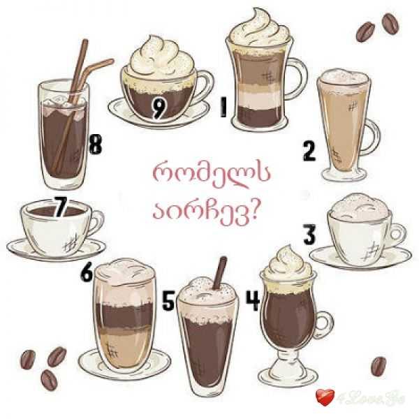 აირჩიეთ ყავა და გაიგეთ რა გელით